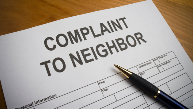 Neighbor complaint form