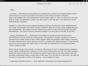 Markdown on iPad