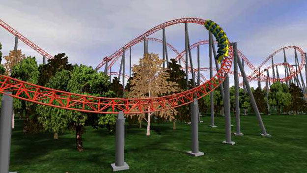 Expedition GeForce roller coaster