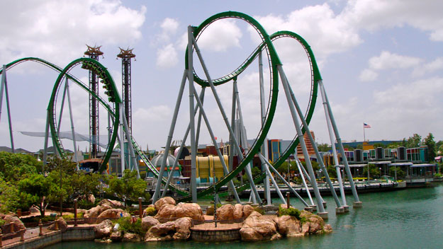 Incredible Hulk roller coaster