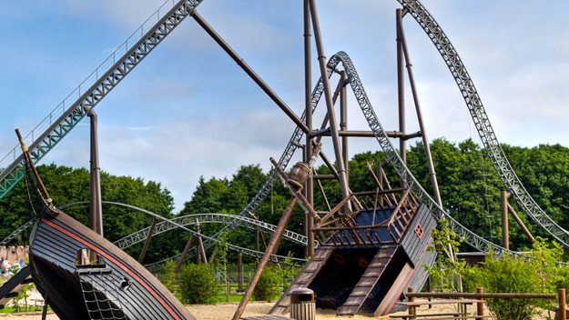 Piraten roller coaster