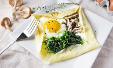 Savory Mushroom and Goat Cheese Crepes