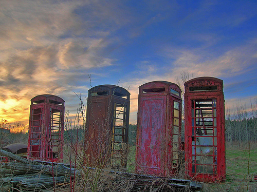 The Phone Booth Graveyard (Newark-on-Trent, UK)
