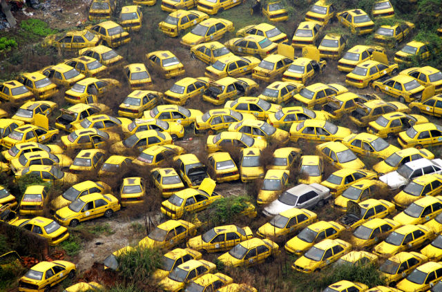 The Yellow Taxi Graveyard (Chongqing, China)