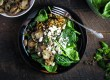 Lentil, Mushroom and Spinach Salad