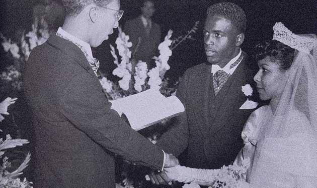 Jackie Robinson married Rachel Isum Robinson