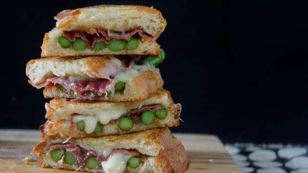 Asparagus, Fontina, and Speck Panini