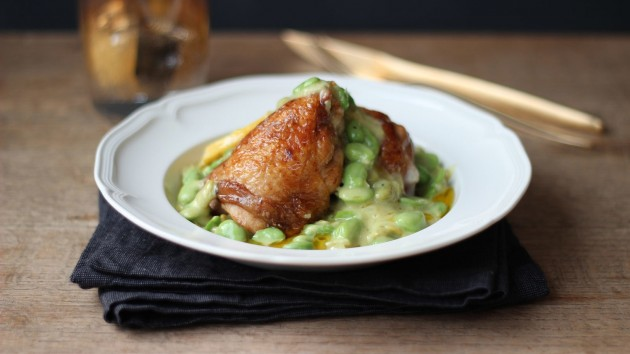 7 - Chicken with English Mustard and Broad Beans