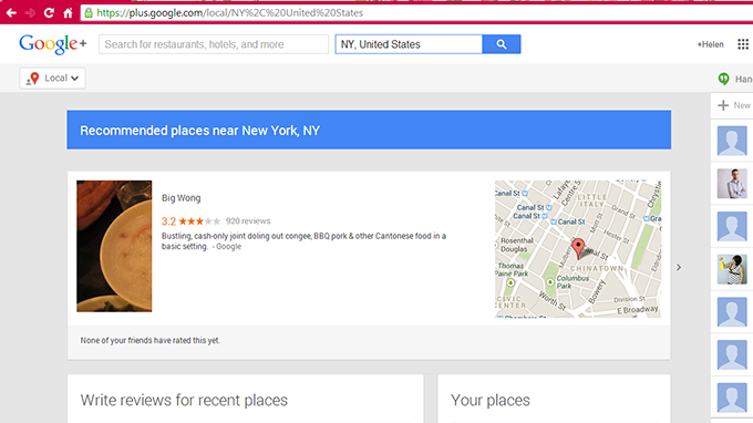 Google+ Local Business Search NY