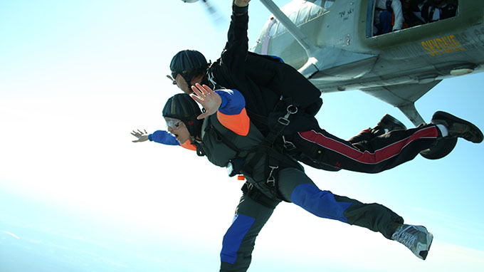 Skydiving Take chances risk
