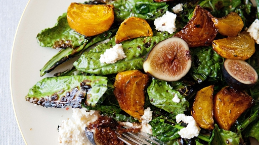 2 - Grilled Kale Salad with Beets, Figs, and Ricotta2