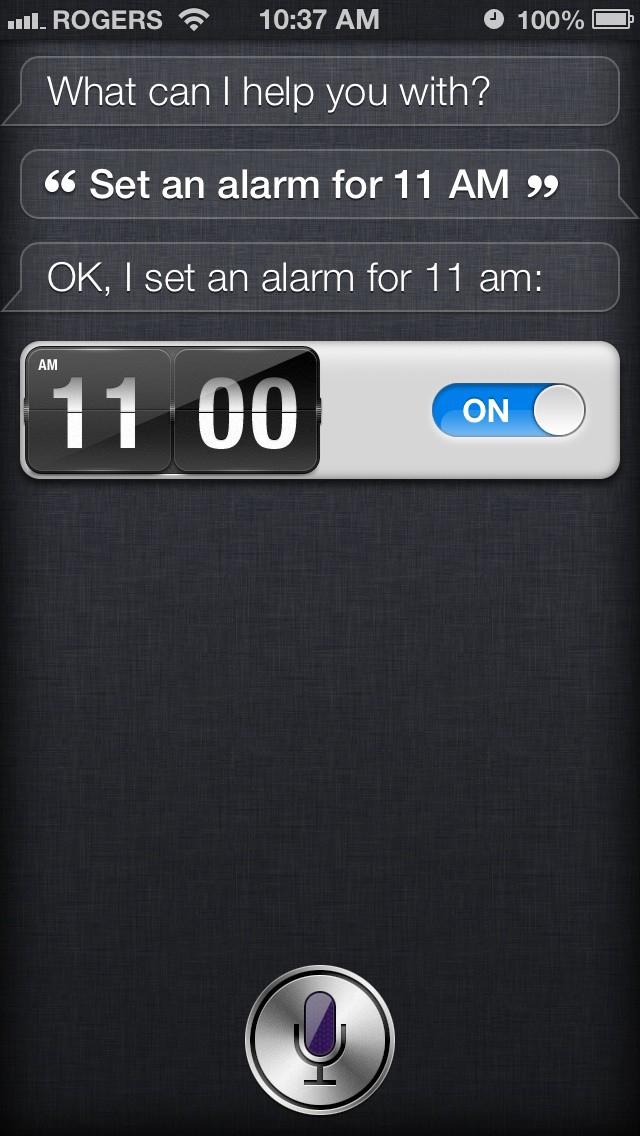 siri set an alarm