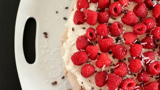 2) Chocolate Raspberry Pavlova