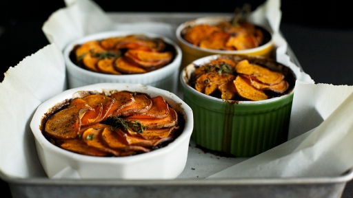 3 - Mushroom and Stout Pies with Sweet Potato Crusts