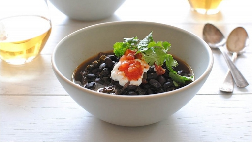 4 - Beery Black Bean and Pork Soup