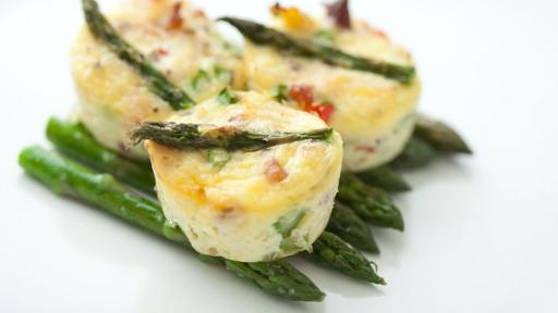 4 - Crab Asparagus and Pepper Mini Frittatas