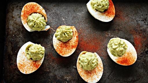 5 - Avocado Deviled Eggs