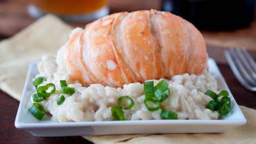 5 - Beer and Butter Poached Lobster with Saison Risotto