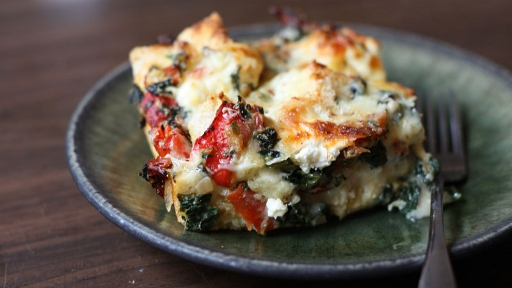 7 - Triple Cheese and Spinach Strata