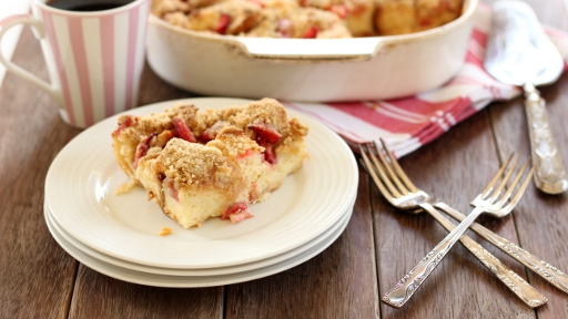 8 - Strawberry Baked French Toast