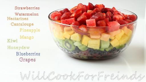 9 - Rainbow Fruit Salad