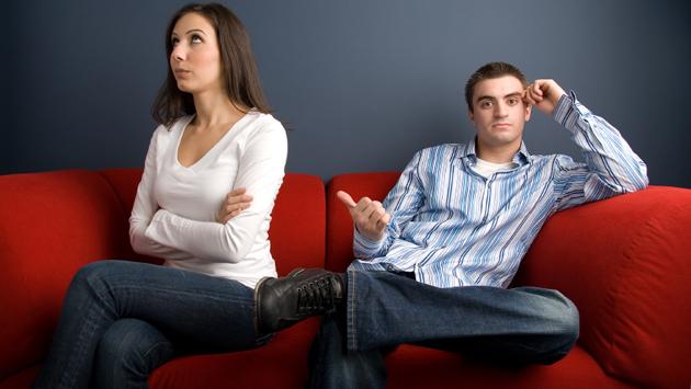 Couple after an arguement