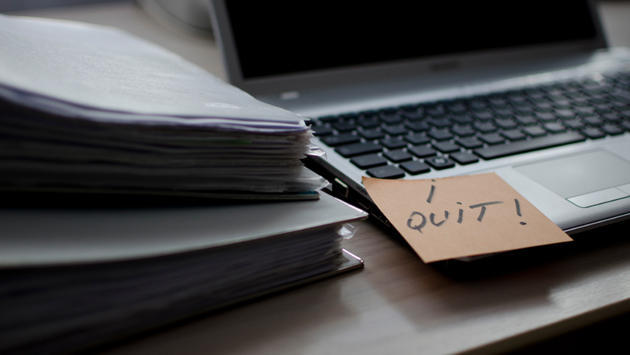 """I quit"" note"