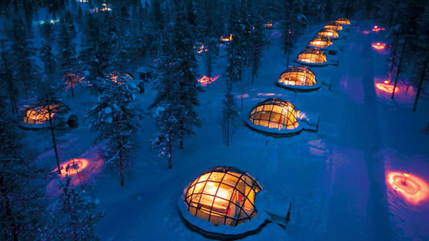Igloo Village in Kakslauttanen, Finland