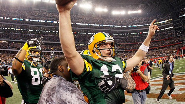 Aaron Rodgers in Super Bowl XLV