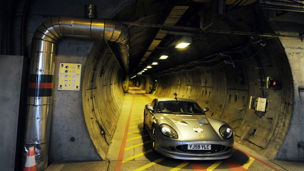 Car in Channel Tunnel