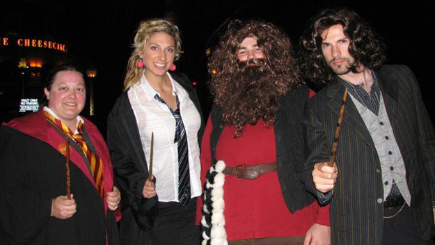 Harry Potter fans dressed up