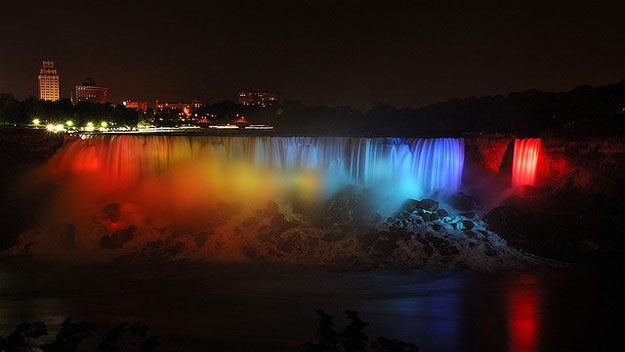 Niagra Falls at night