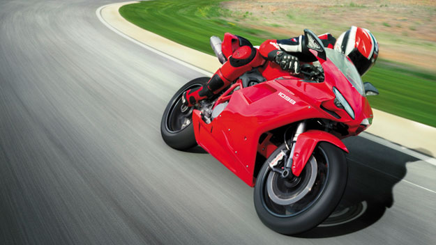 Riding a Ducati motorcycle