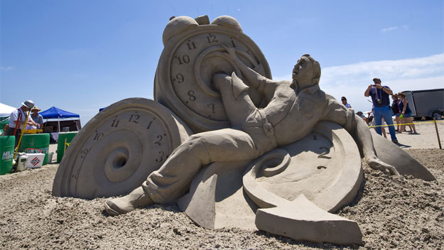 Sand sculpture at Texas SandFest