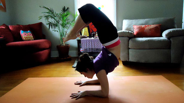 Scorpion yoga pose