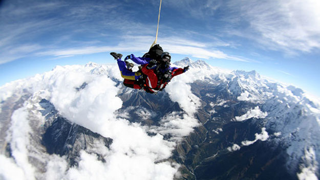 Skydiving over Mt. Everest