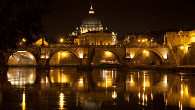 Vatican City at night