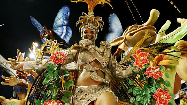 Woman in costume at Rio Carnival