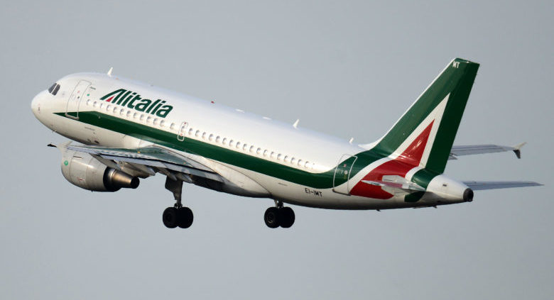 """An Alitalia airplane takes off on December 9, 2013 at the Fiumicino airport, near Rome. Italian businessman Antonio Percassi said on December 7, 2013 he will subscribe to troubled airline Alitalia's capital increase for 15 million euros ($21 million) through his Odissea holding company. In a statement Percassi, whose businesses include managing retail brands in Italy and developing commercial property, gave no more details on the move. The troubled company, which is searching for a foreign partner to rescue it, said a capital increase aimed at raising up to 300 million euros ($408 million) had attracted 173 million euros from shareholders so far. The interest shown """"should be confirmed in the coming days and at the latest by December 10,"""" Alitalia said in a statement, adding: """"There are still the conditions for the capital increase to be completely allocated"""". AFP PHOTO / GABRIEL BOUYS (Photo credit should read GABRIEL BOUYS/AFP/Getty Images)"""